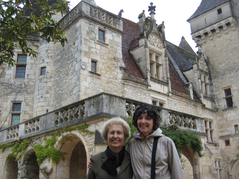 Josephine Baker's chateau: Claudia with Claude, mother of the chateau's owner/restorer Angélique St. Exupéry