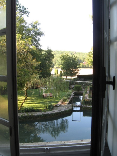 View from the window at le Manoir D'Hautegente